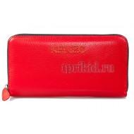Женский кошелёк Kenzo натуральная кожа 20x2x10см/23156 цвет красный