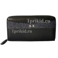 Кошелёк LISON KAOBERG женский чёрный натуральная кожа 19x10см/9249