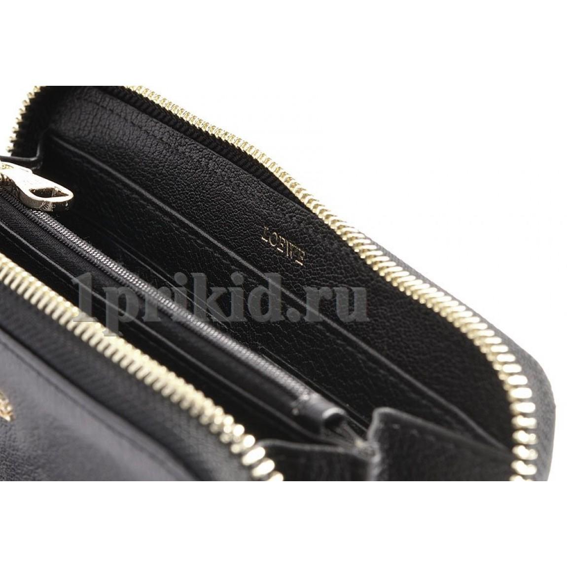 e71e2650fd79 Кошелёк LOEWE женский чёрный натуральная кожа 19x9см/5411 купить в ...