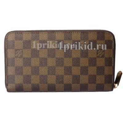Кошелёк LOUIS VUITTON мужской коричневый натуральная кожа 21x12см/1968