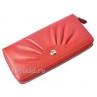 Кошелёк MARIO VERONNI B женский красный натуральная кожа 19x10см/8177