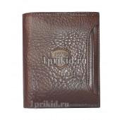 Кошелёк Cosset мужской коричневый натуральная кожа 10x12см/1498