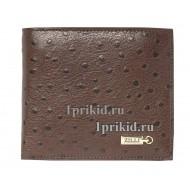 Кошелёк ZILLI мужской коричневый натуральная кожа 11x10см/3192