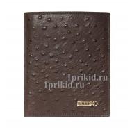 Кошелёк ZILLI мужской коричневый натуральная кожа 10x12см/3193