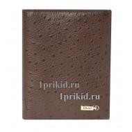 Кошелёк ZILLI мужской коричневый натуральная кожа 11x14см/3395