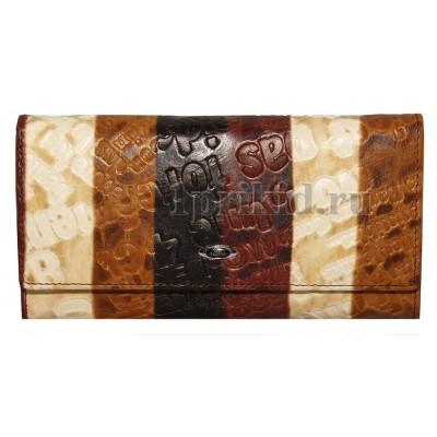 Кошелёк NINO TACCHINI женский коричневый натуральная кожа 19x9см/3891
