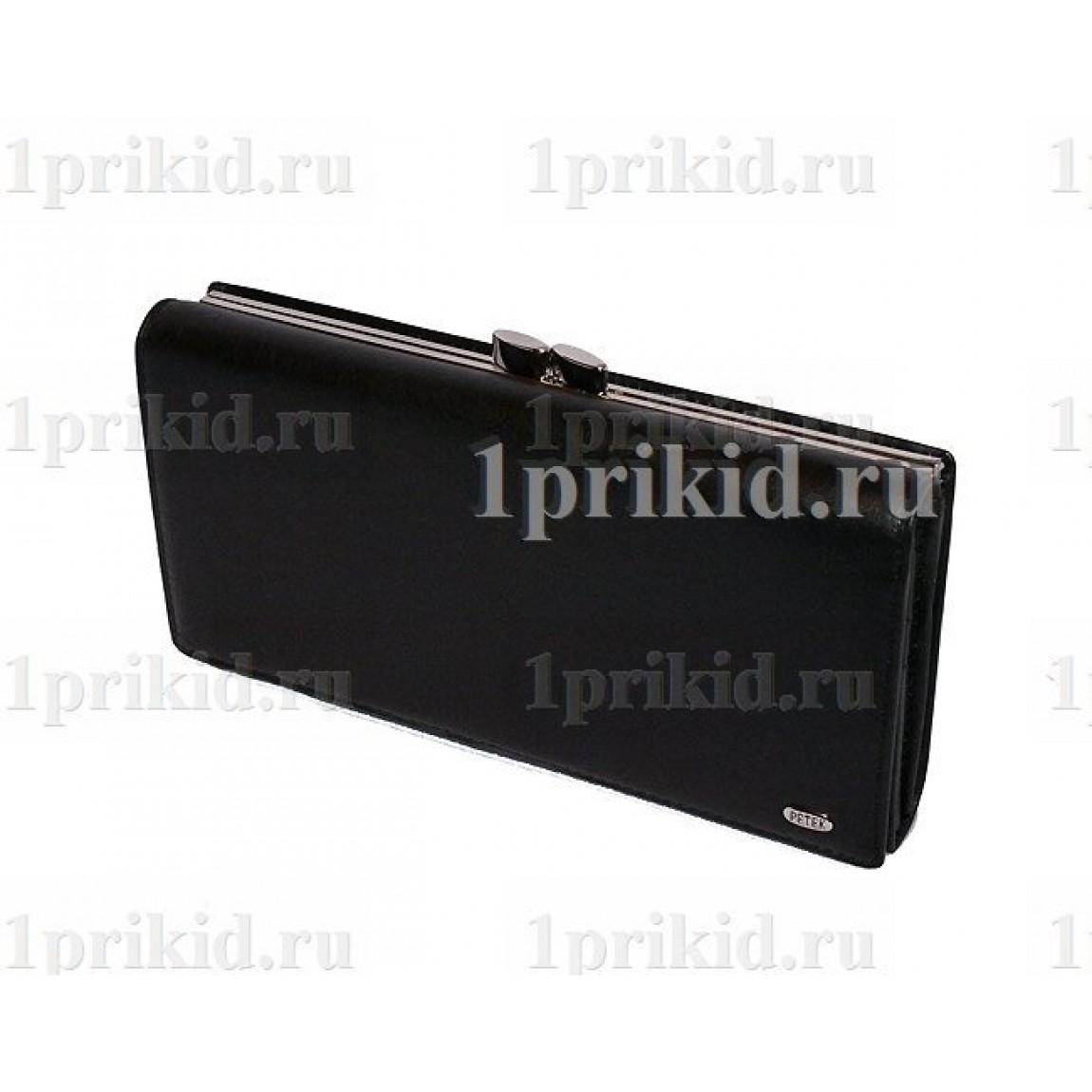 832279e90be0 Кошелёк PETEK женский чёрный натуральная кожа 19x9см/1702 купить в ...