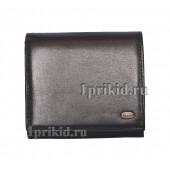 Кошелёк PETEK женский чёрный натуральная кожа 10x8см/17033