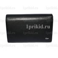 Кошелёк PETEK женский чёрный натуральная кожа 15x10см/1710