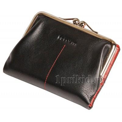 3bd1280a91ae Кошелек PRENSITI кожаный женский чёрный натуральная кожа 9x13см/5363 ...
