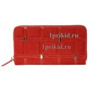 Кошелёк Salvatore Ferragamo женский красный натуральная замша 20x10см/4189