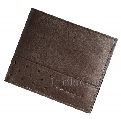 Кошелек Salvatore Ferragamo мужской коричневый натуральная кожа 11x9см/78324