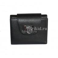 Кошелёк Salvatore Ferragamo Black женский чёрный натуральная кожа 10x11см/9984