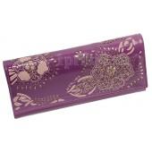 Кошелёк Wanlima женский фиолетовый натуральная кожа 19x9см/3916