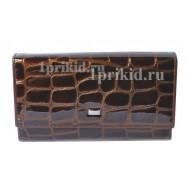 Кошелёк WANLIMA женский коричневый натуральная кожа 19x10см/0722