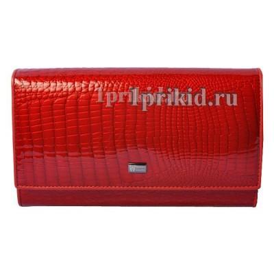 Кошелёк WANLIMA женский красный натуральная кожа 19x10см/1401