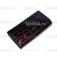 Кошелёк WANLIMA женский коричневый натуральная кожа 19x9см/42106