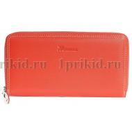 Кошелек женский красный натуральная кожа 19x2x10см/38874