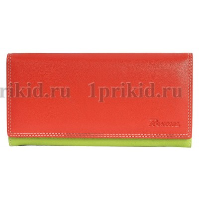 Кошелек женский красный натуральная кожа 19x10см/38875