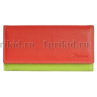 Кошелек женский красный натуральная кожа 19x9см/38877