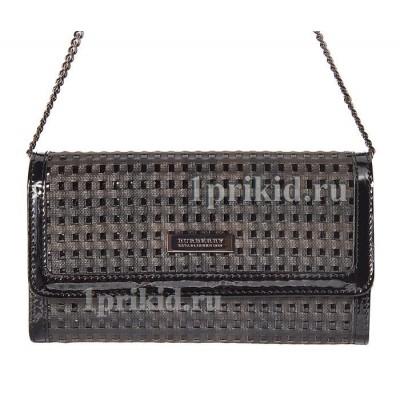 Кошелёк BURBERRY женский чёрный натуральная кожа 19x11см/4763