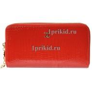 Косметичка натуральная кожа цвет красный 24x9x16см/65784