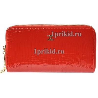 Кошелёк CHANEL женский красный натуральная кожа 20x4x10см/4454
