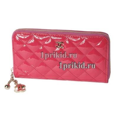 Кошелёк CHANEL женский розовый натуральная кожа 20x10см/5543