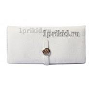 Кошелёк Hermes женский белый натуральная кожа 19x9см/05335