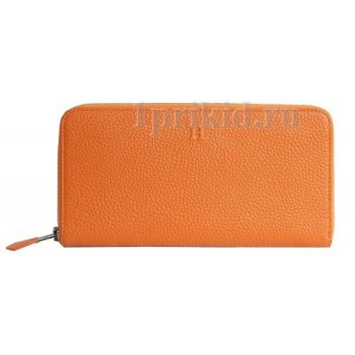 Кошелёк HERMES женский оранжевый натуральная кожа 20x10см/5418