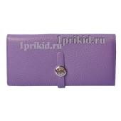 Кошелёк Hermes женский фиолетовый натуральная кожа 19x9см/8703