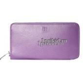 Кошелёк Hermes женский фиолетовый натуральная кожа 20x10см/8994