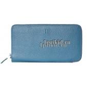 Кошелёк Hermes женский синий натуральная кожа 20x10см/8998