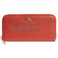 Кошелёк LOEWE женский красный натуральная кожа 19x9см/5412