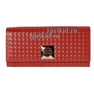 Кошелёк Moro Jenny женский красный натуральная кожа 19x9см/5692