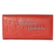 Кошелёк PRADA женский красный натуральная кожа 19x10см/7825
