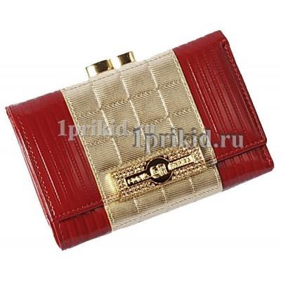 Кошелёк SONIA RYKIEL женский красный натуральная кожа 11x10см/2501