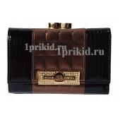 Кошелёк SONIA RYKIEL женский чёрный натуральная кожа 13x9см/2511
