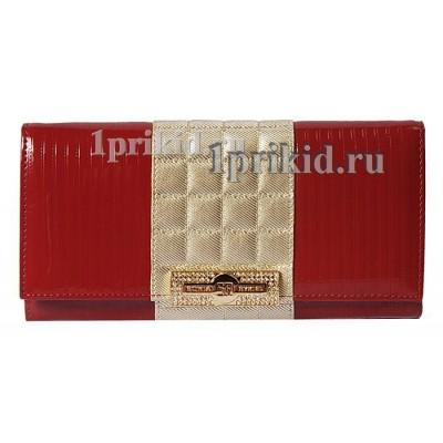 Кошелёк SONIA RYKIEL женский красный натуральная кожа 19x10см/7835