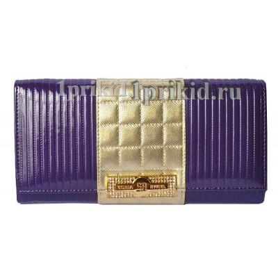 Кошелёк SONIA RYKIEL женский фиолетовый натуральная кожа 19x10см/9521