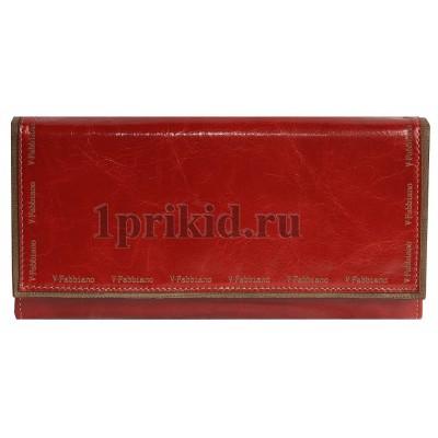 Кошелёк Velina fabbiano женский красный натуральная кожа 19x9см/5489