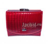 Кошелёк WANLIMA женский красный натуральная кожа 12x8см/01511
