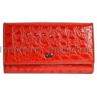 Кошелек WANLIMA женский красный натуральная кожа 19x10см/43519