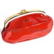 Косметичка Moro натуральная кожа цвет красный 20x5x12см/43523
