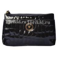Косметичка Wanlima натуральная кожа цвет чёрный 19x12см/0399