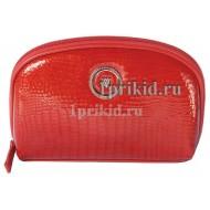 Косметичка WANLIMA натуральная кожа цвет красный 19x6x12см/5578