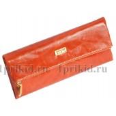 Кожаный кошелек JSSC женский коричневый натуральная кожа 20x10см/5237