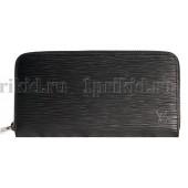LOUIS VUITTON (луис витон) кошелек мужской чёрный натуральная кожа 20x2x10см/91743