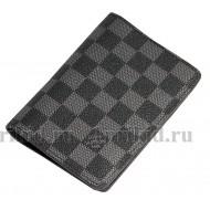 LOUIS VUITTON (луис витон) обложка натуральная кожа цвет чёрный 10x14см/46750