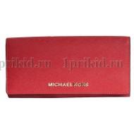MICHAEL KORS (Майкл Корс) кошелек женский красный натуральная кожа 19x10см/54647